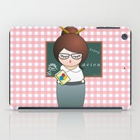 teacher iPad Cases featuring Kokeshi Teacher  by Pendientera