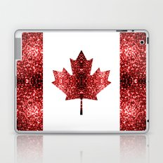 Canada flag red sparkles Laptop & iPad Skin