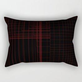 Red Square Rectangular Pillow