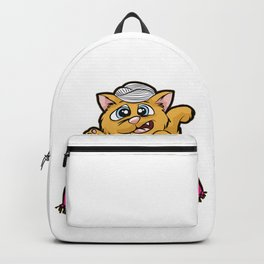FORTUNE TELLER CAT Fish Bowl Glass clairvoyant Backpack