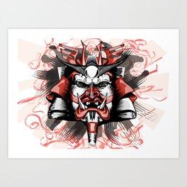 Masck Samurai Art Print