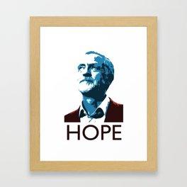 Corbyn HOPE Framed Art Print