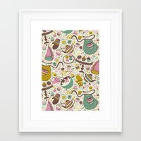 cupcakes Framed Art Prints featuring Cupcakes  by Anna Deegan
