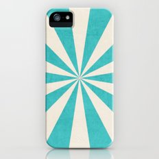 aqua starburst Slim Case iPhone (5, 5s)