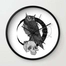 Inktober Owl Wall Clock