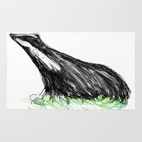 badger Area & Throw Rugs featuring Badger by James Peart