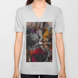 High Drama Abstract Floral Unisex V-Neck