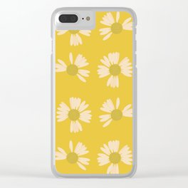 Yellow Daisy Chains Flower Floral Petals Nature Clear iPhone Case