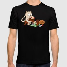 Puss in boots Mens Fitted Tee Black MEDIUM