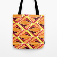 mosaic Tote Bags featuring mosaic by kartalpaf
