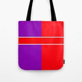 Team Color 6...red,purple Tote Bag