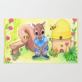 Bee Kind Squirrel Rug