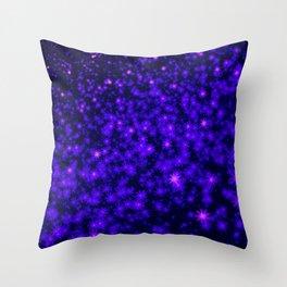 Christmas Blue Purple Night Snowflakes Throw Pillow