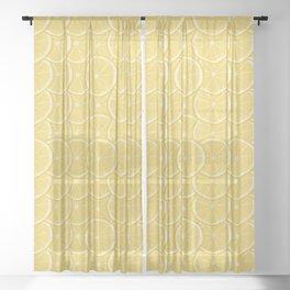 Lemon slices on repeat Sheer Curtain