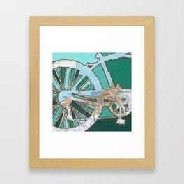 Bike Cleveland Ohio Framed Art Print
