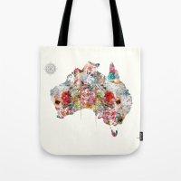 australia Tote Bags featuring Australia by bri.b