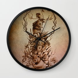 Cute Totem Wall Clock
