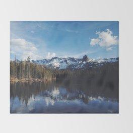 Snowy Peak and Lake Throw Blanket