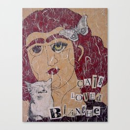 Cats Loved Blanche (Blanche No. 3) Canvas Print