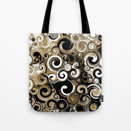 Coffee Swirls Tote Bag
