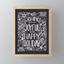 Wishing you a Joyful and Happy Holiday Framed Mini Art Print