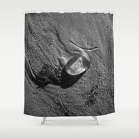 jelly fish Shower Curtains featuring Jelly Fish by Paul Vayanos