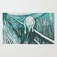 The Scream's Haze (light blue) Rug