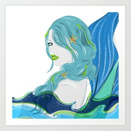 Salty Siren Art Print