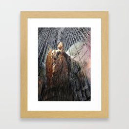 The Angel at the Heart of the Rain Framed Art Print