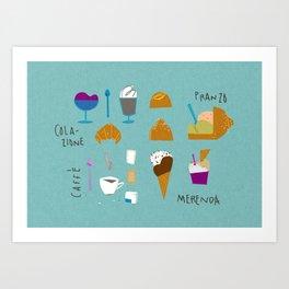 Sicilian diet - Summer edition Art Print