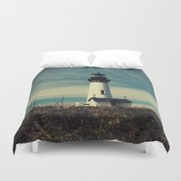 lighthouse Duvet Covers featuring Lighthouse by Yellowstone Photo Studio
