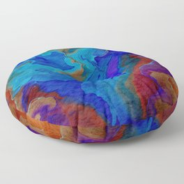 Tangerine Blues  Floor Pillow