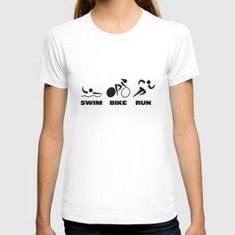 Swim Bike Run Knock T-shirt