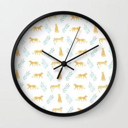 leopards print Wall Clock