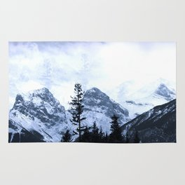 Mystic Three Sisters Mountains - Canadian Rockies Rug