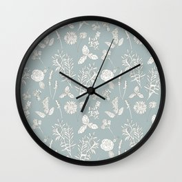 Plant Therapy Pond Blue Wall Clock