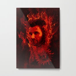 Lucifer in flames Metal Print