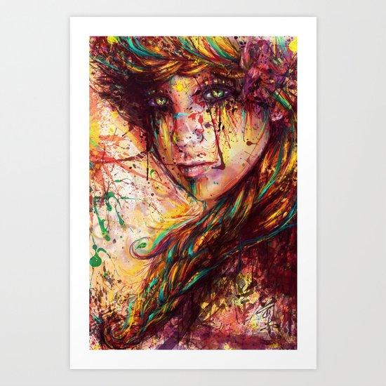 Russian braid Art Print
