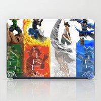 legend of korra iPad Cases featuring Legend of Korra Elements by paulovicente