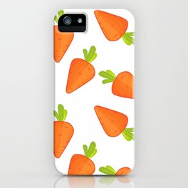 carrot pattern iPhone Case