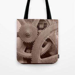 Big Gears (sepia ) Tote Bag