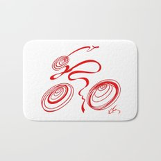 Bicycle - Red Ribbon Rider Bath Mat