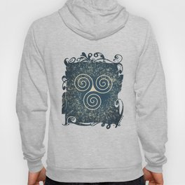 Triskelion Golden Three Spiral Celtic Symbol Hoody