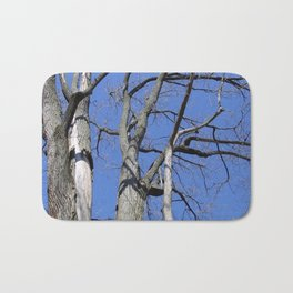 Bare Trees and Blue Skies Bath Mat
