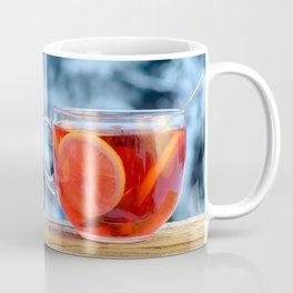 Hot fruit tea with lemon rings on a winter day. Coffee Mug