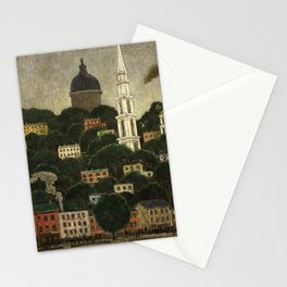 College Hill, Downcity Providence, Rhode Island by Edward Middleton Manigault Stationery Cards