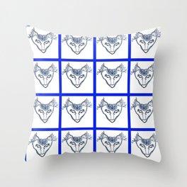 SkyWolf Print Throw Pillow