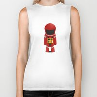 2001 a space odyssey Biker Tanks featuring 2001 Space Odyssey Red Suit by Scientee
