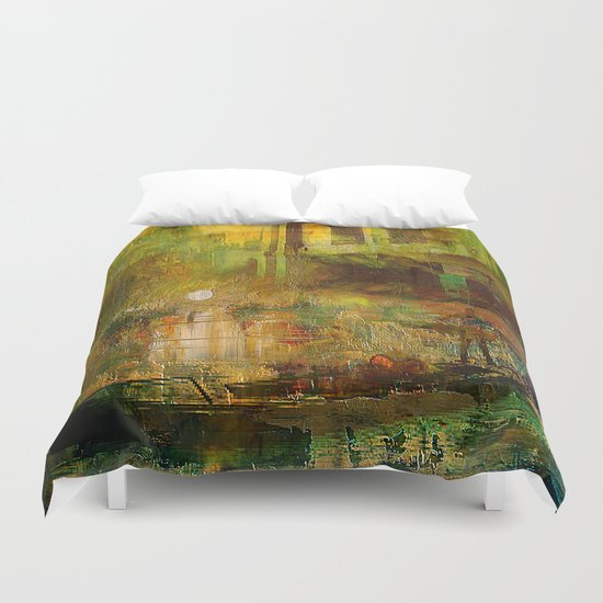 The gondolier of Brooklyn Duvet Cover