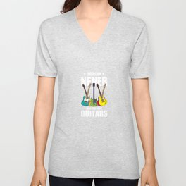 You Can Never Have Too Many Guitars Country Music For Blues Unisex V-Neck